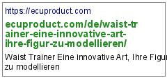 https://ecuproduct.com/de/waist-trainer-eine-innovative-art-ihre-figur-zu-modellieren/
